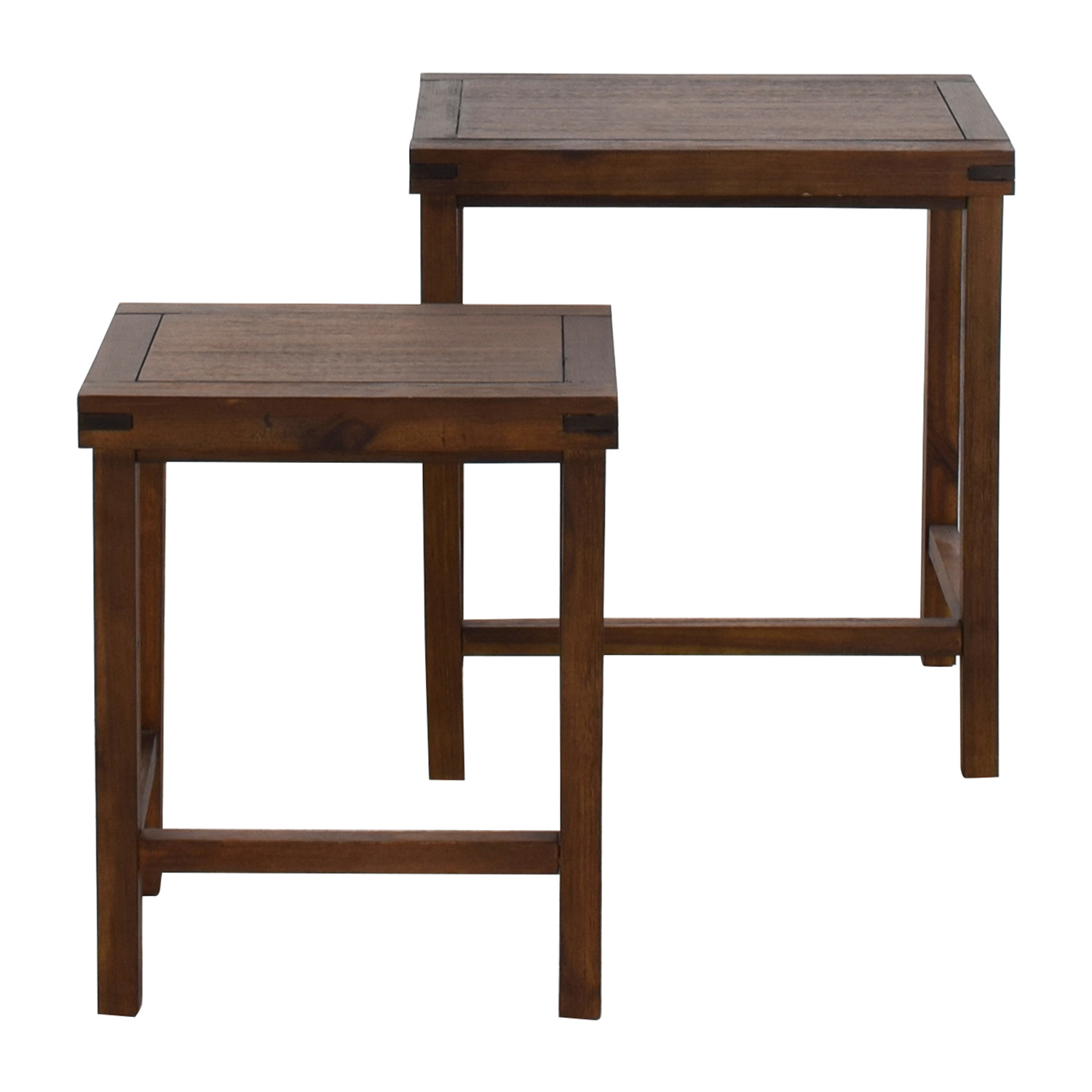 Two Nesting Espresso Side Tables Coupon