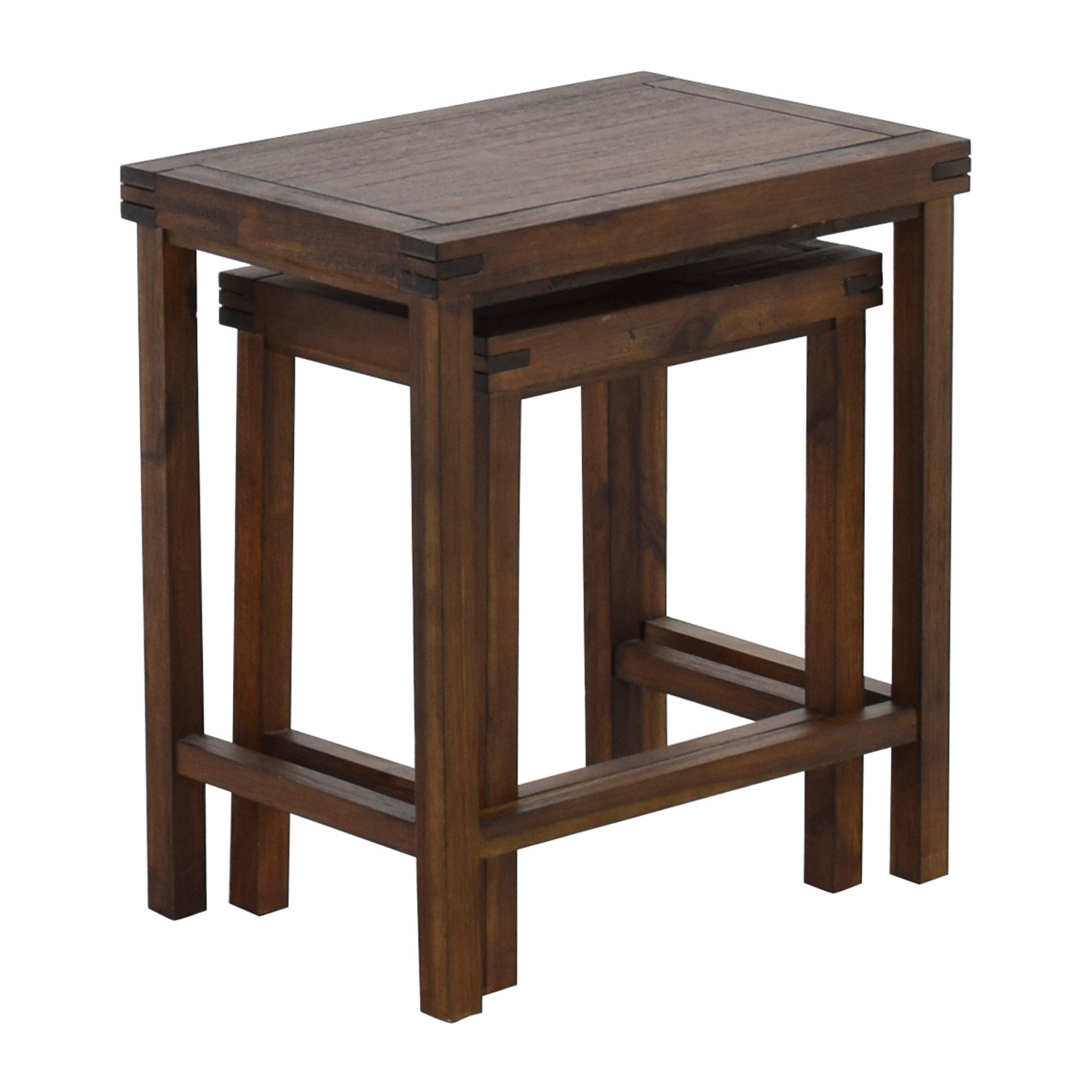 ... Two Nesting Espresso Side Tables Used ...