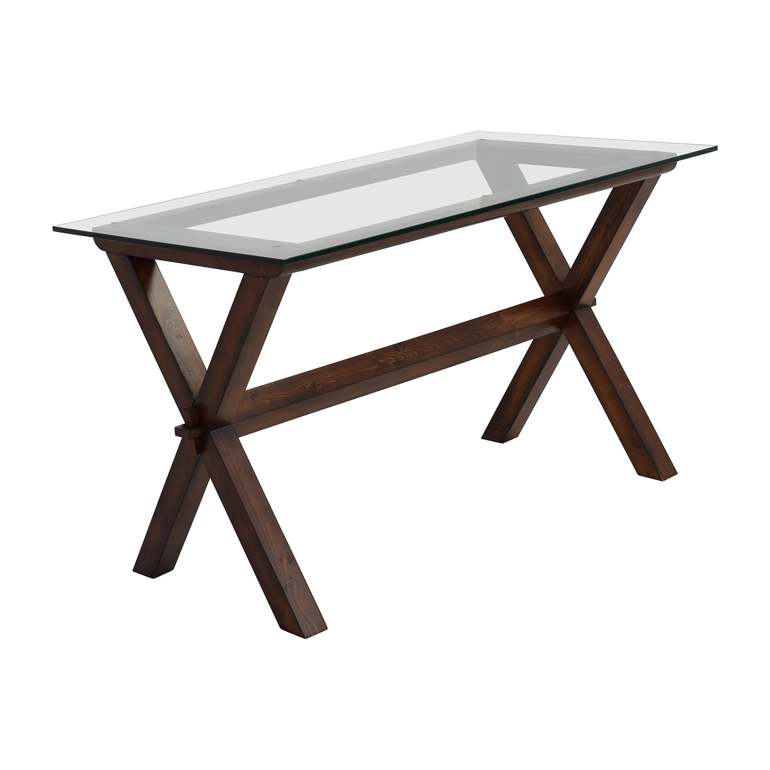 Pottery Barn Ava Glass And Wood Desk