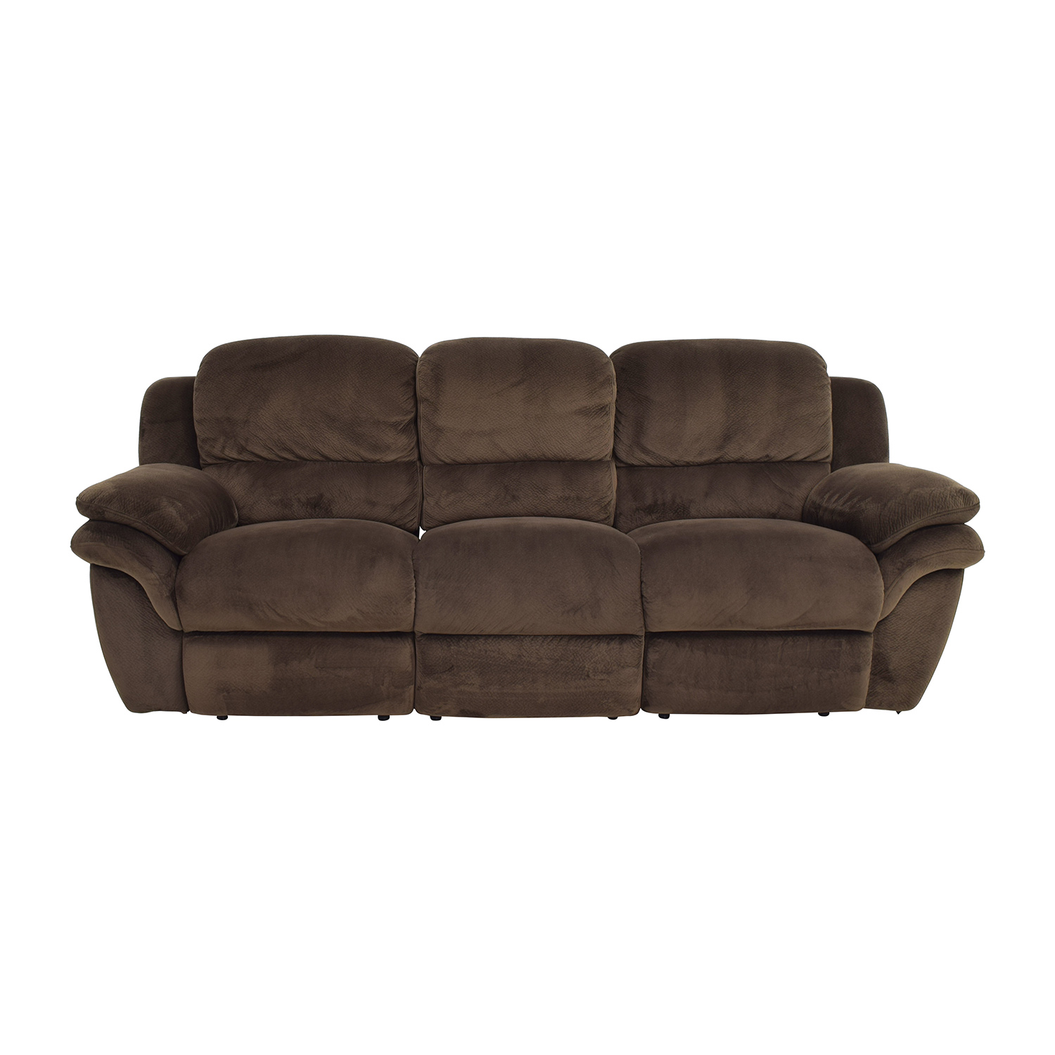 Bobs Furniture Bobs Furniture Brown Reclining Couch second hand