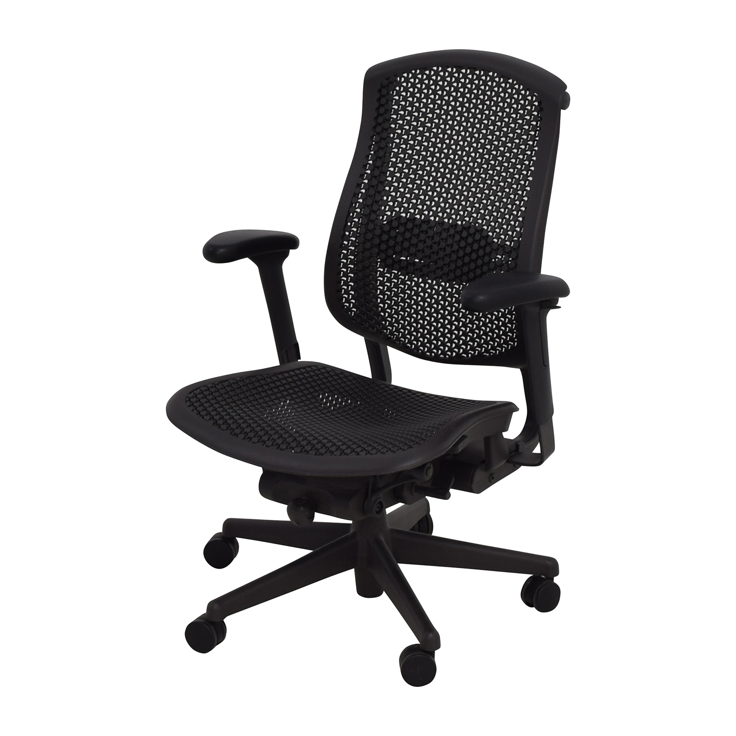 ... Herman Miller Herman Miller Biomorph Ergonomic Black Desk Chair Home  Office Chairs ...