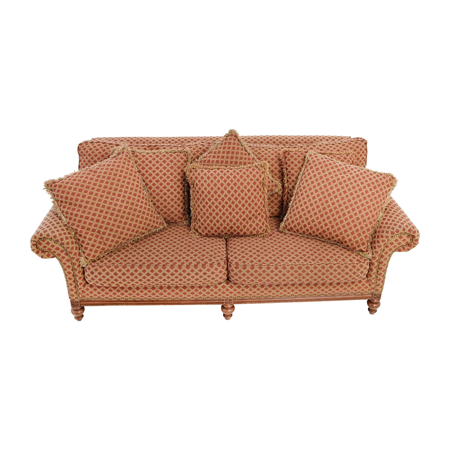 55% OFF Art Deco Leather Sofa Sofas