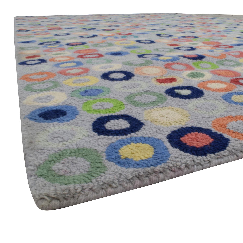 74 Off Land Of Nod Land Of Nod Wool Multi Colored Circle Rug Decor