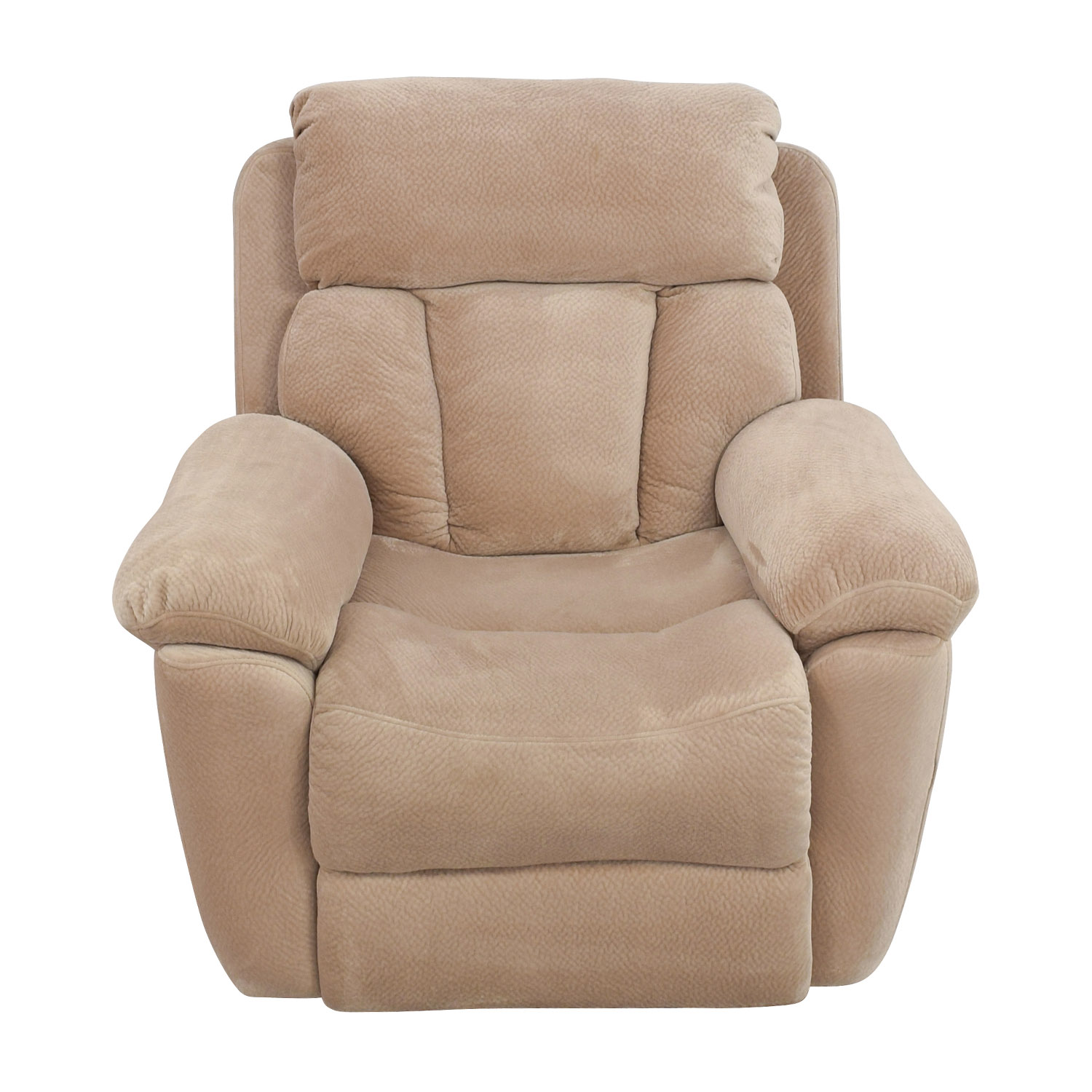 Jennifer Furniture Beige Microfiber Recliner Chair