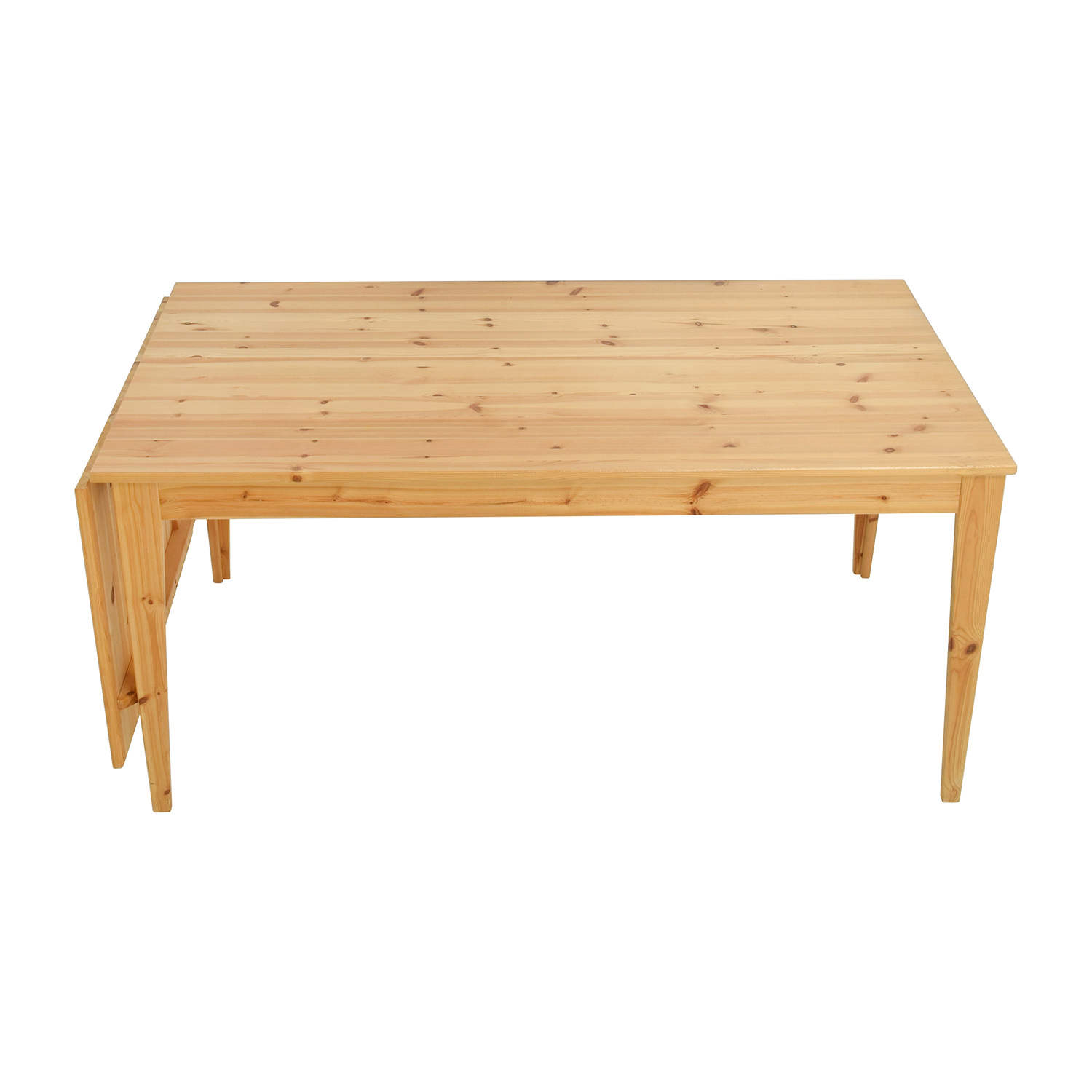 IKEA Normas Pine Wood Drop Leaf Table IKEA