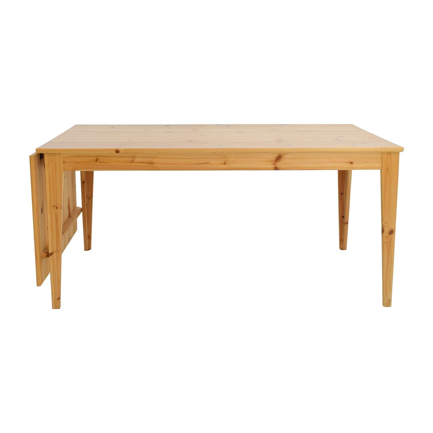 Ikea Normas Pine Wood Drop Leaf Table Dinner Tables