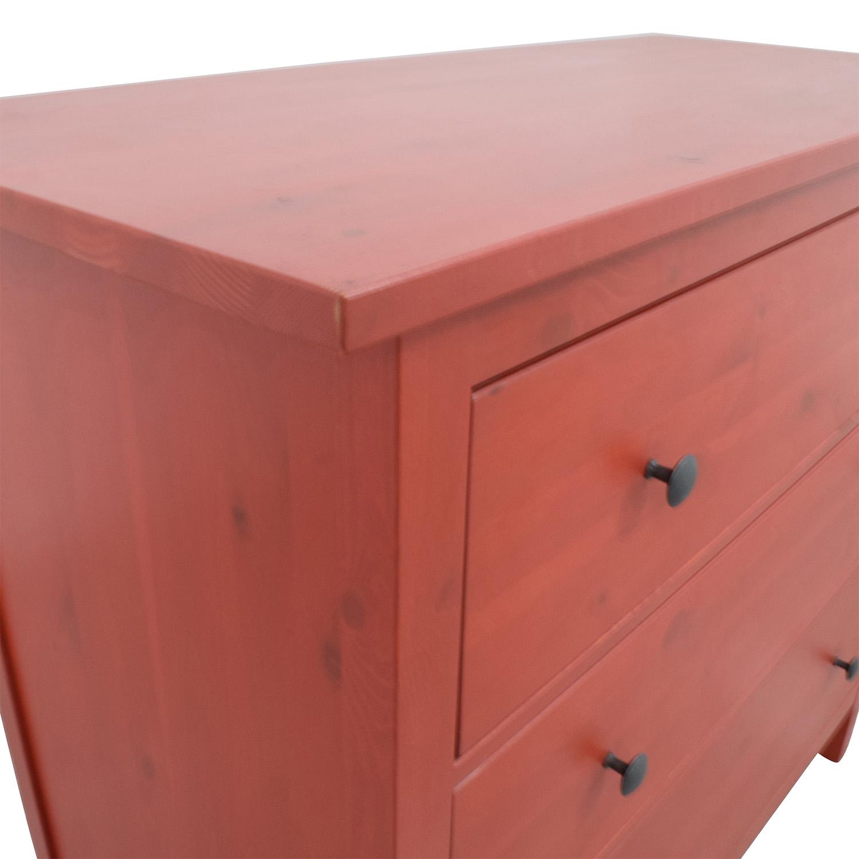 IKEA IKEA Hemnes Red Three-Drawer Dresser nj