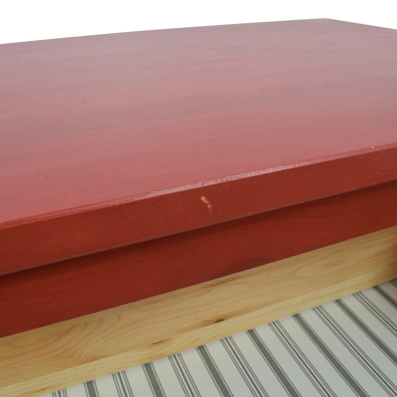 IKEA Hemnes Red Three-Drawer Dresser IKEA