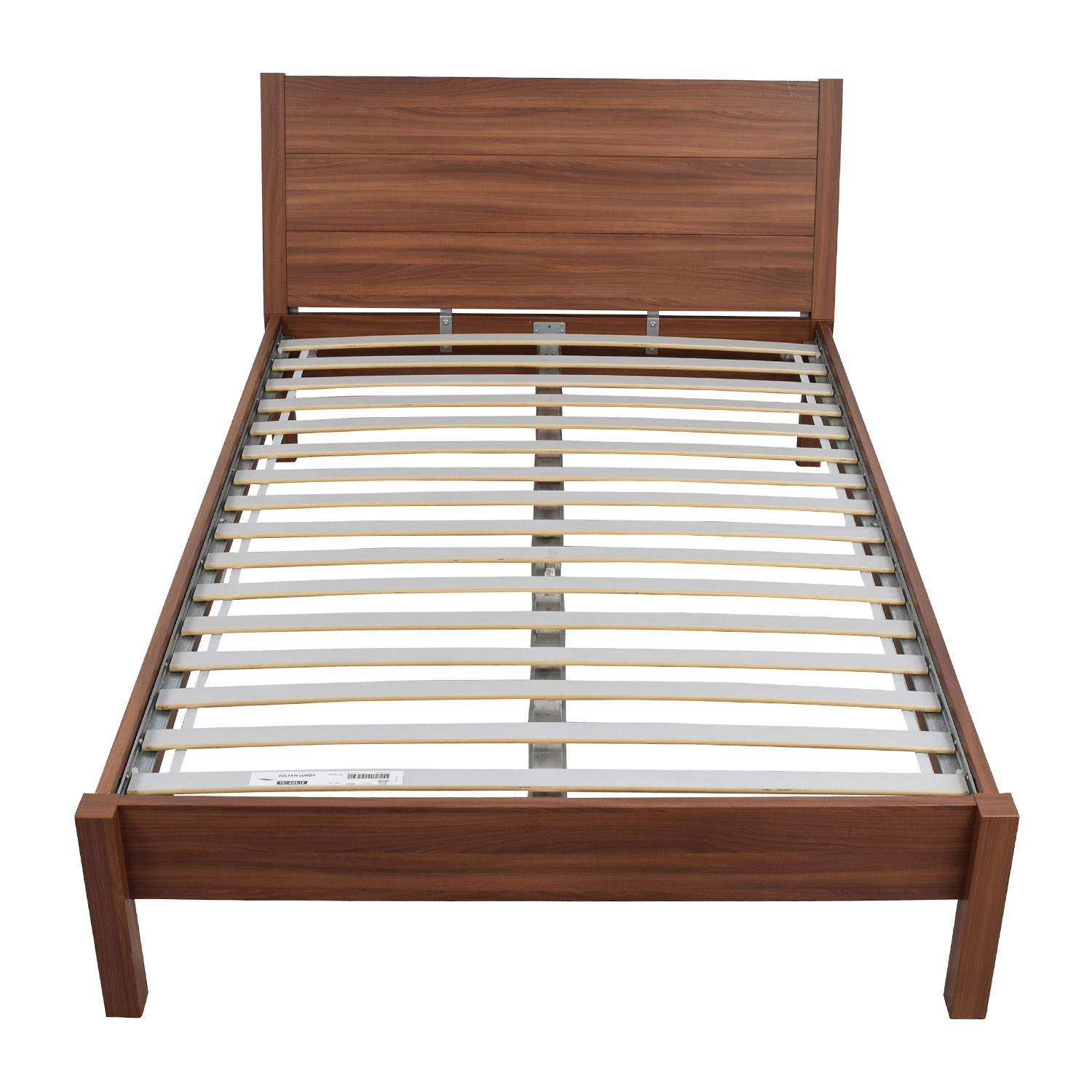 Ikea Queen Wooden Platform Bed Frame On