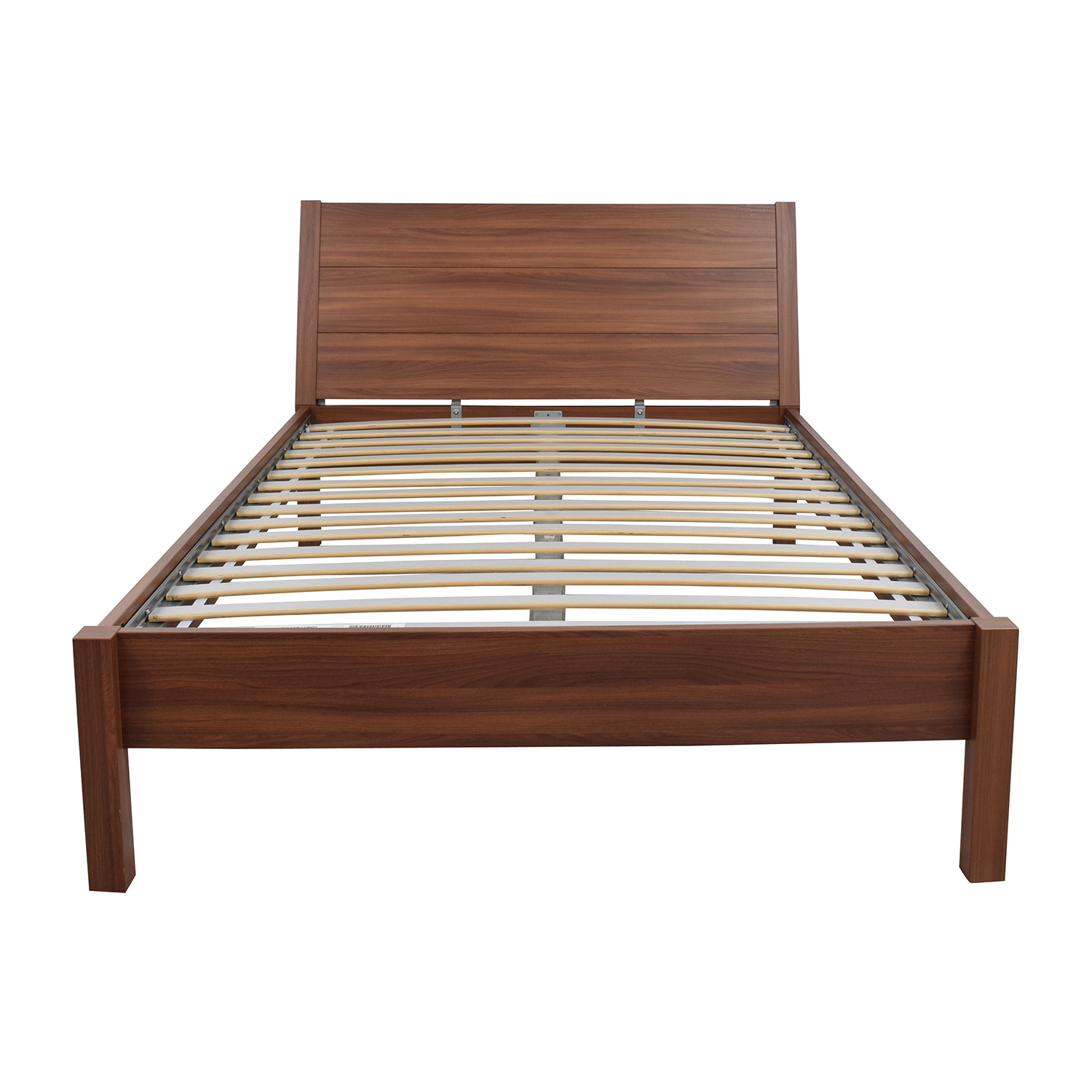 84% OFF - IKEA IKEA Queen Wooden Platform Bed Frame / Beds