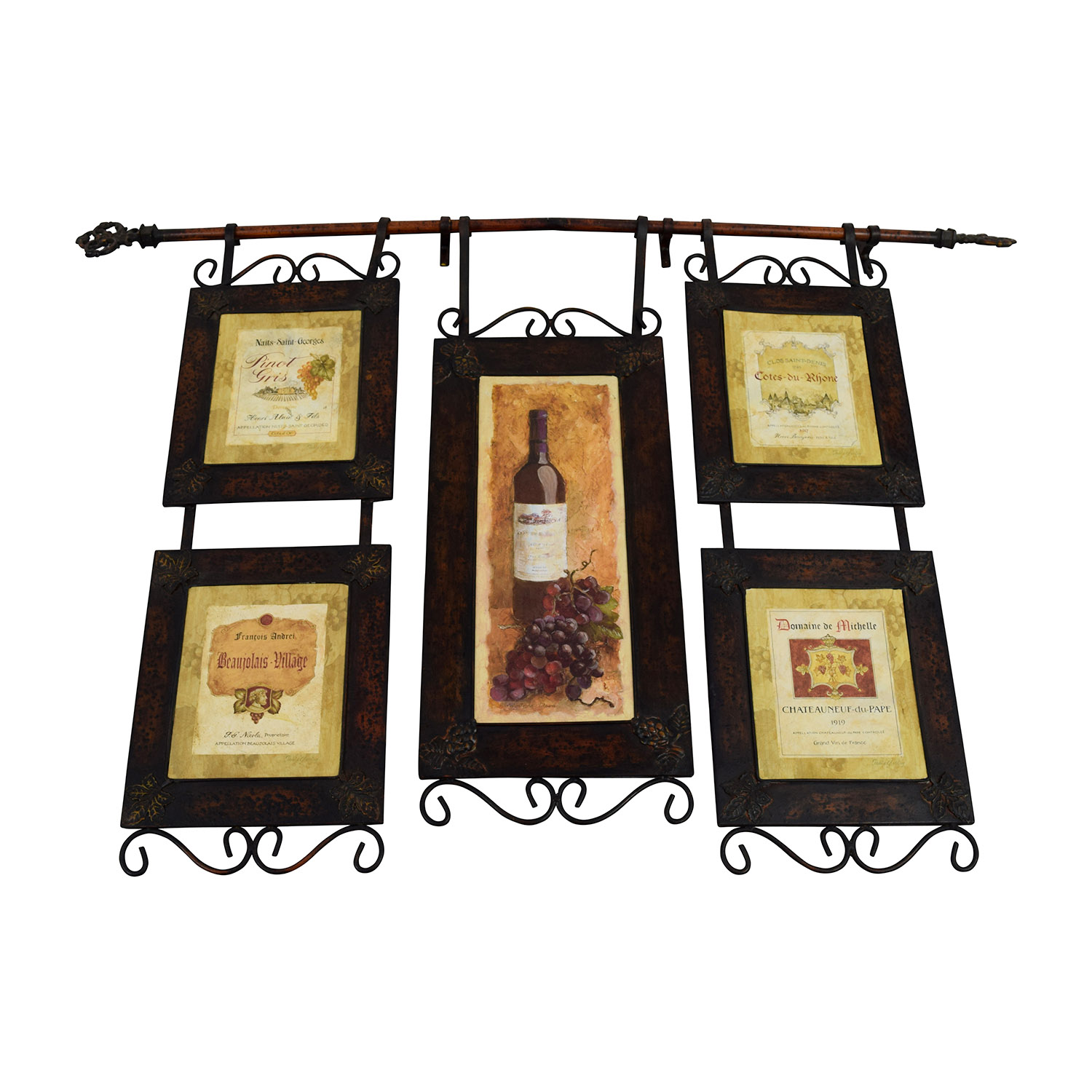 buy French Vineyard Metal Wall Hanging Decor