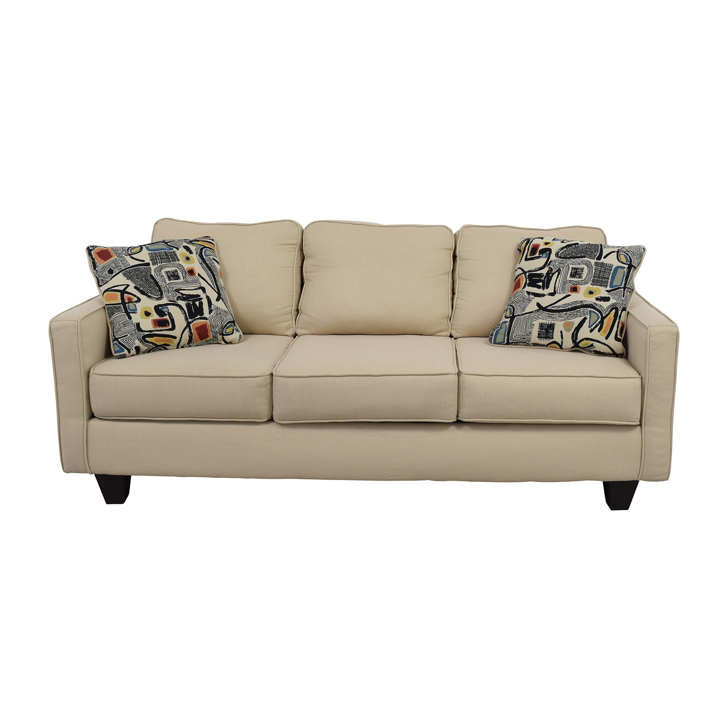 Charmant Shop Wayfair AllModern Three Cushion Beige Couch With Two Pillows Wayfair  Sofas ...