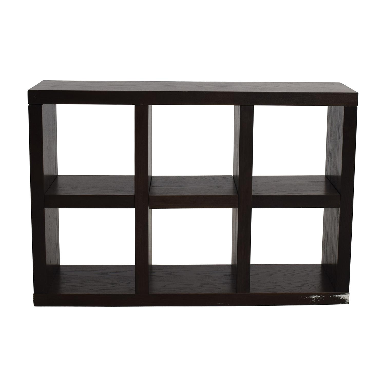 West Elm West Elm Six-Cubical Wooden Bookshelf nj