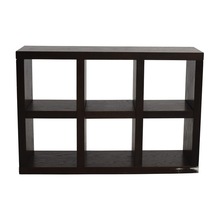 West Elm West Elm Six-Cubical Wooden Bookshelf discount