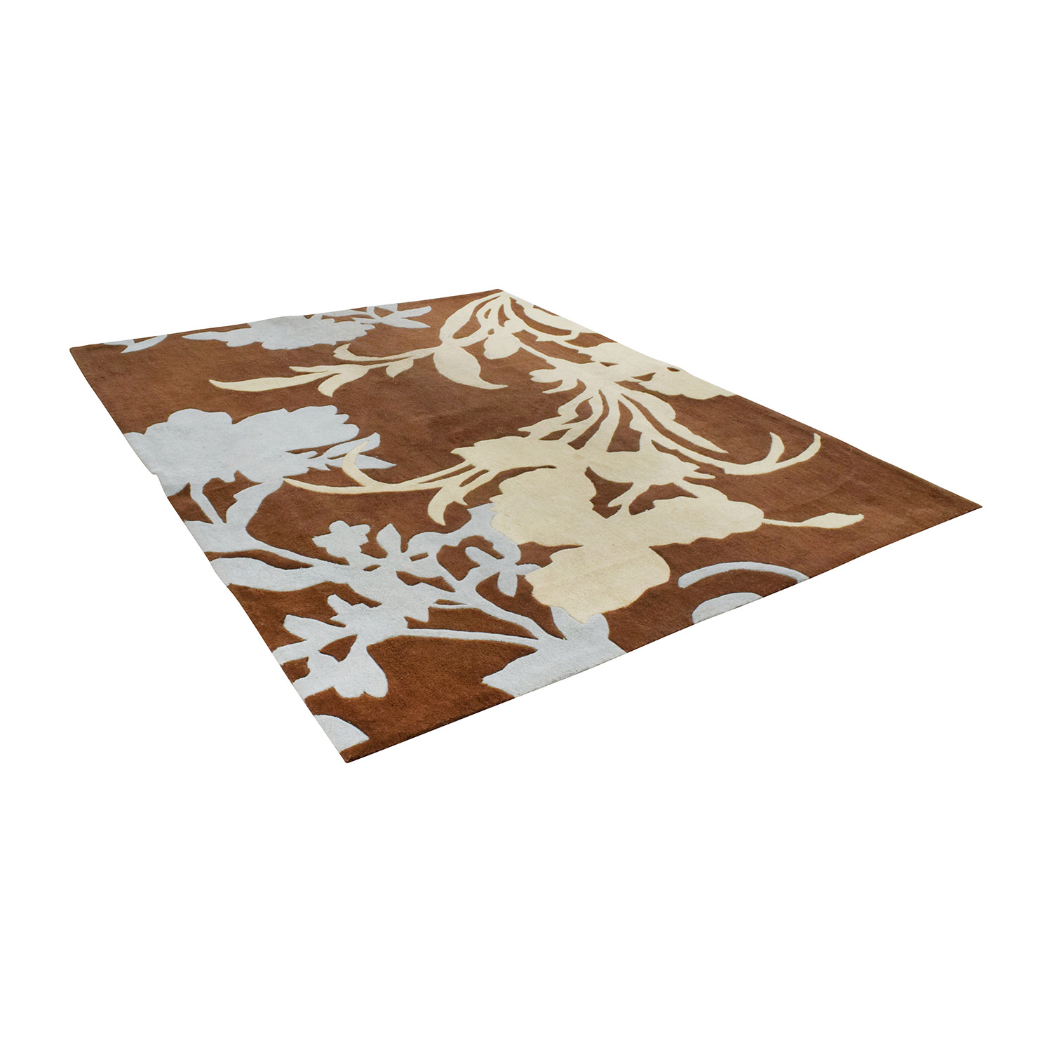NuLOOM Hand-Hooked Brown Wool Rug / Decor