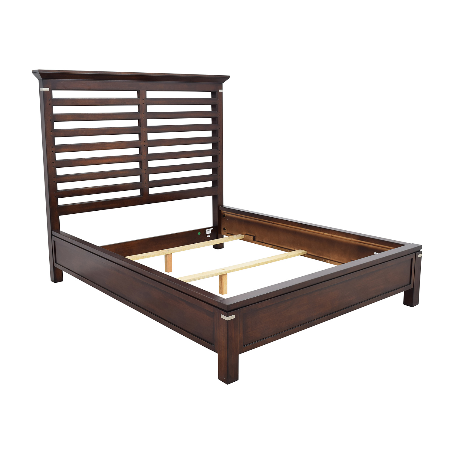 75 Off Tea Trade Tea Trade Dark Wood Caged Queen Bed