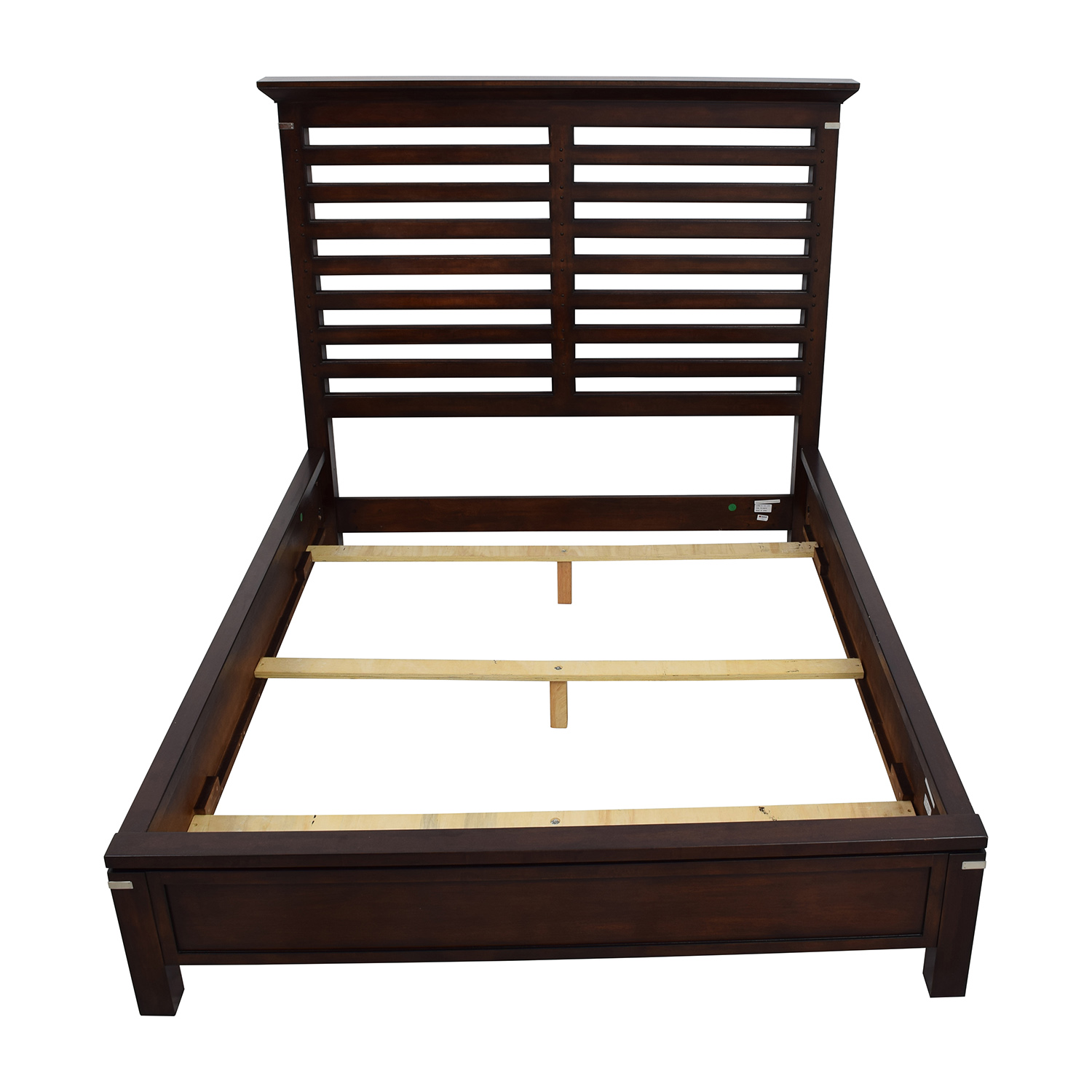 Tea Trade Tea Trade Dark Wood Caged Queen Bed Frame for sale
