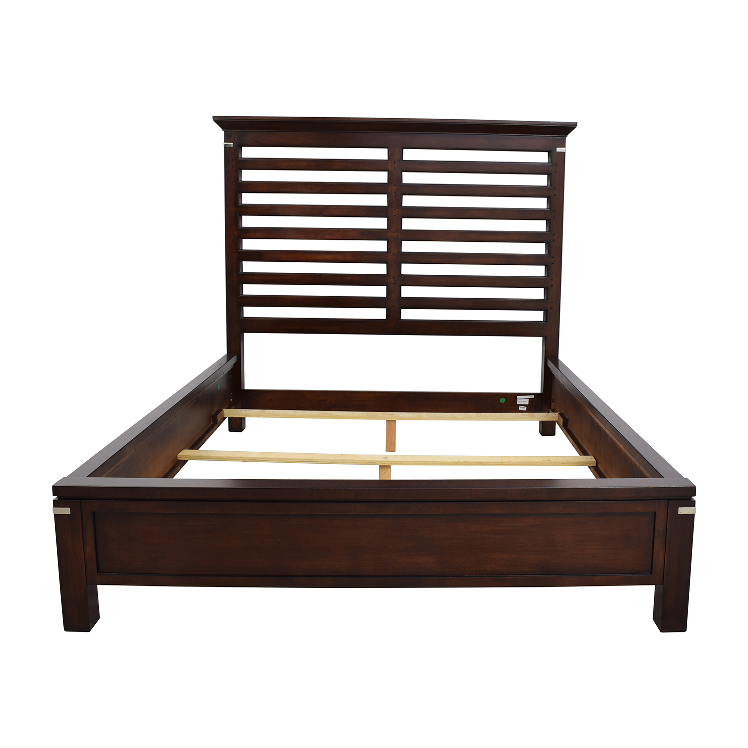 75% OFF - Tea Trade Tea Trade Dark Wood Caged Queen Bed Frame / Beds