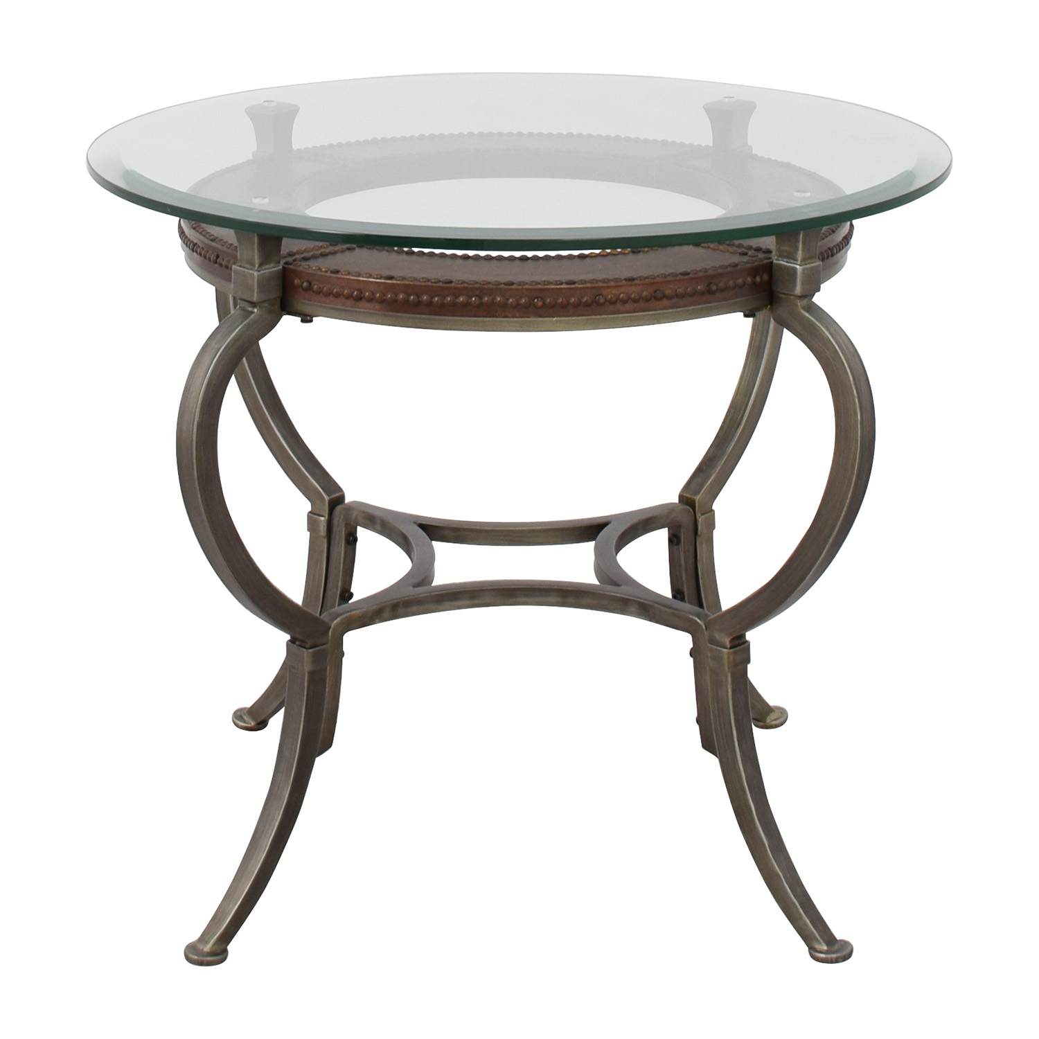 Macys Macys Artistica Round Glass And Metal End Table Nyc ...