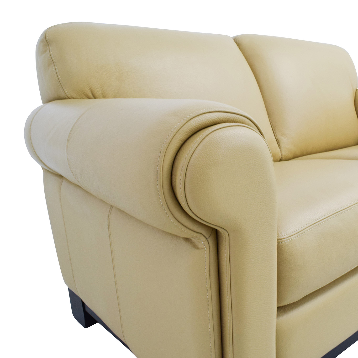 34% OFF Chateau D Ax Chateau D Ax Beige Leather Two seat Cushion