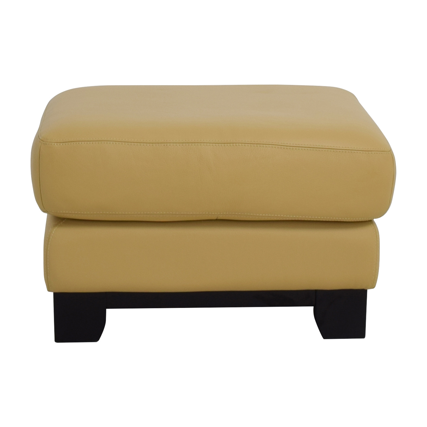 buy Chateau D'Ax USA Beige Leather Ottoman Chateau D'Ax USA