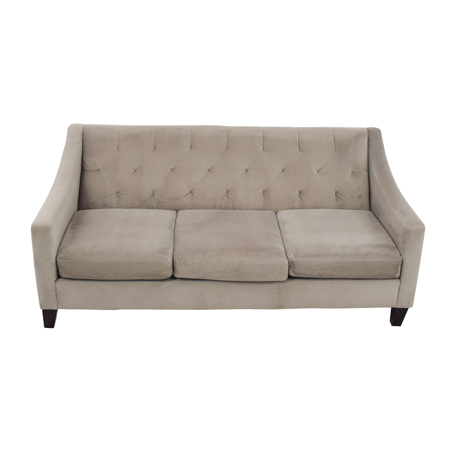 Macys Macys Tufted Back Grey Couch on sale