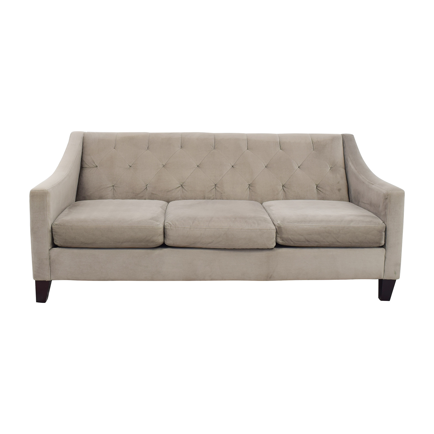 buy Macys Tufted Back Grey Couch Macys Classic Sofas