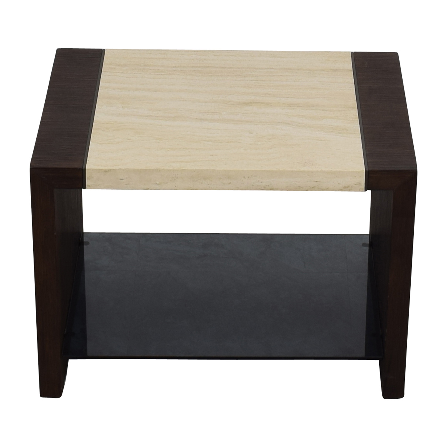 Calvin Klein Calvin Klein Wood and Stone End table second hand