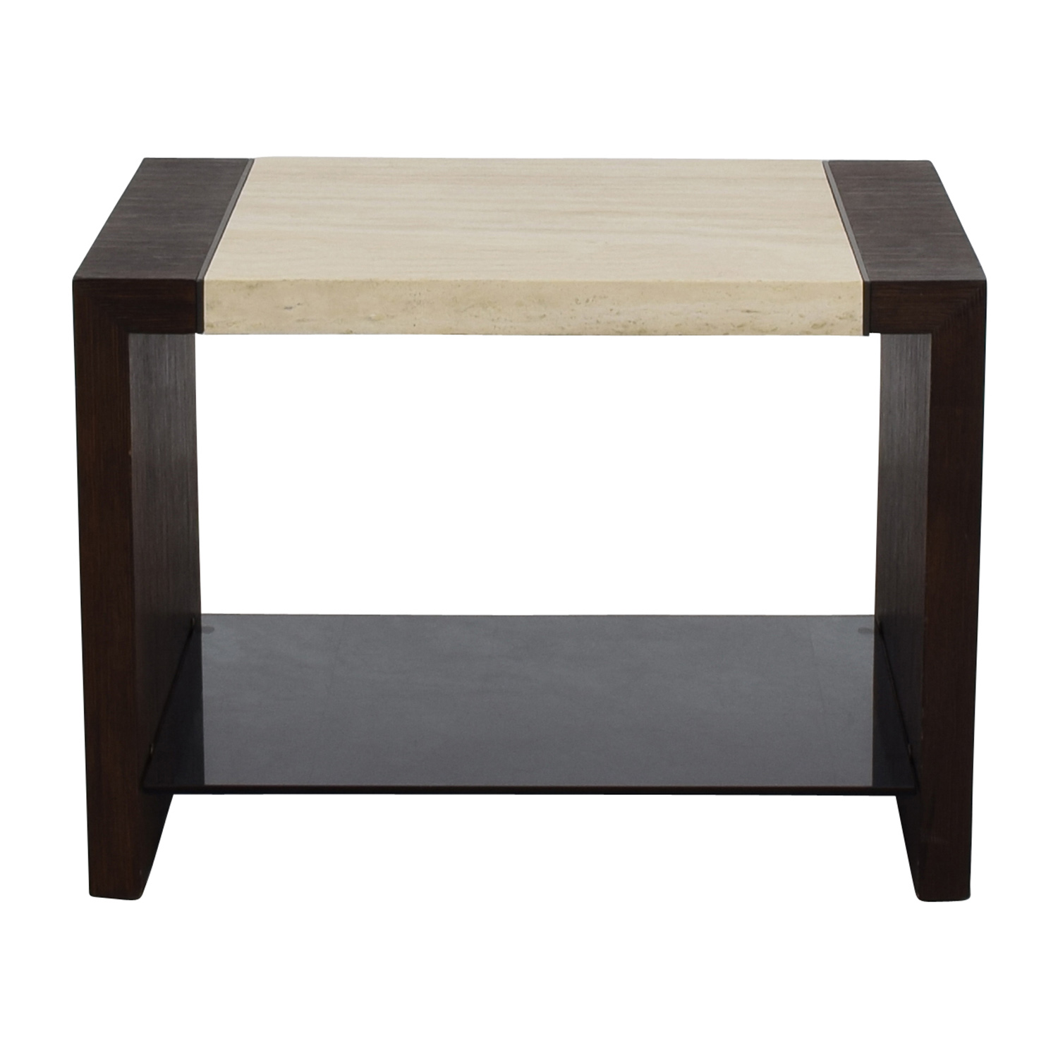 Calvin Klein Calvin Klein Wood and Stone End table used