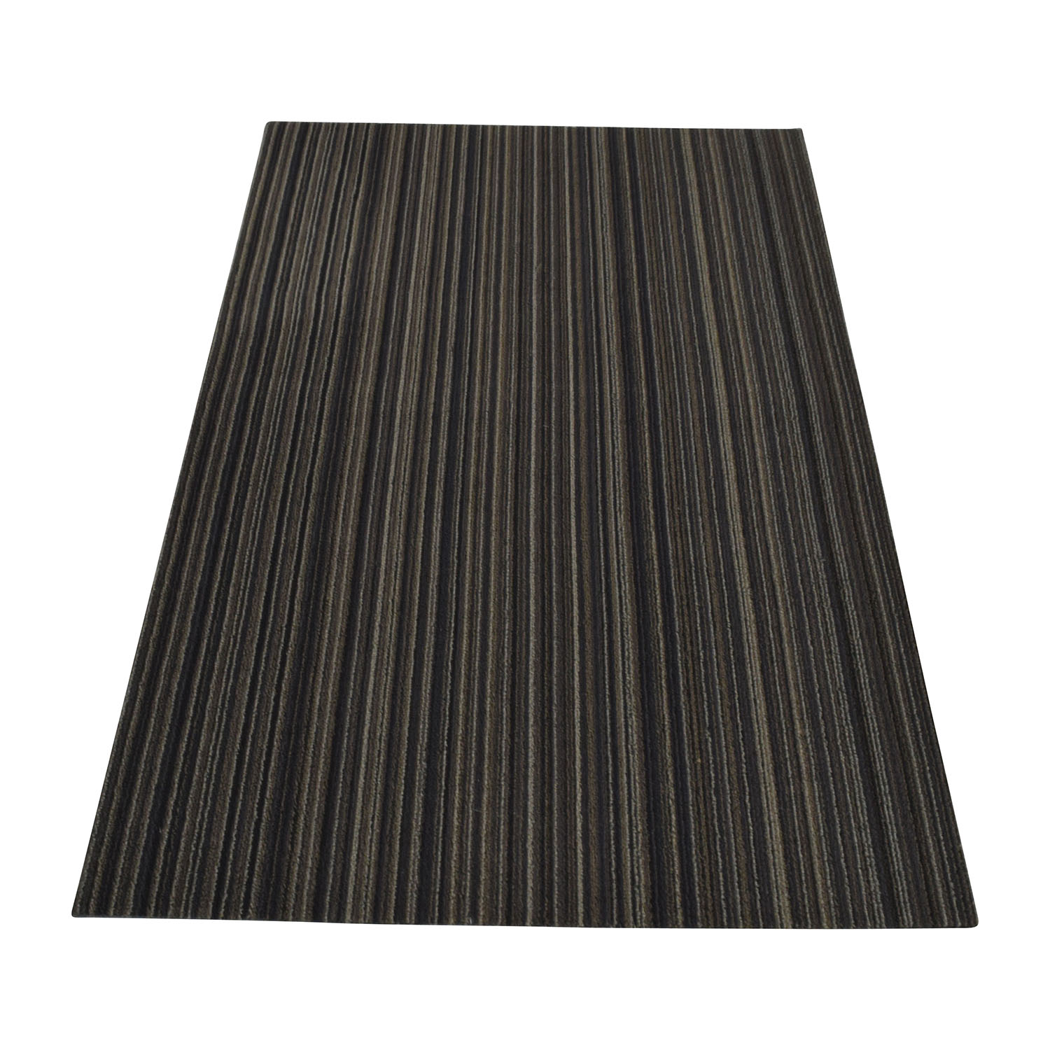 Crate & Barrel Chilewich Brown Striped Rug / Rugs