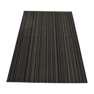 Crate and Barrel Crate & Barrel Chilewich Brown Striped Rug nyc