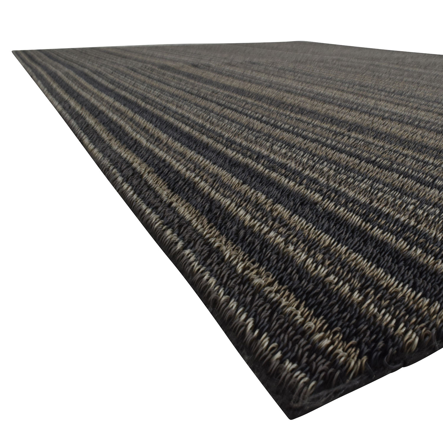 buy Crate and Barrel Crate & Barrel Chilewich Brown Striped Rug online