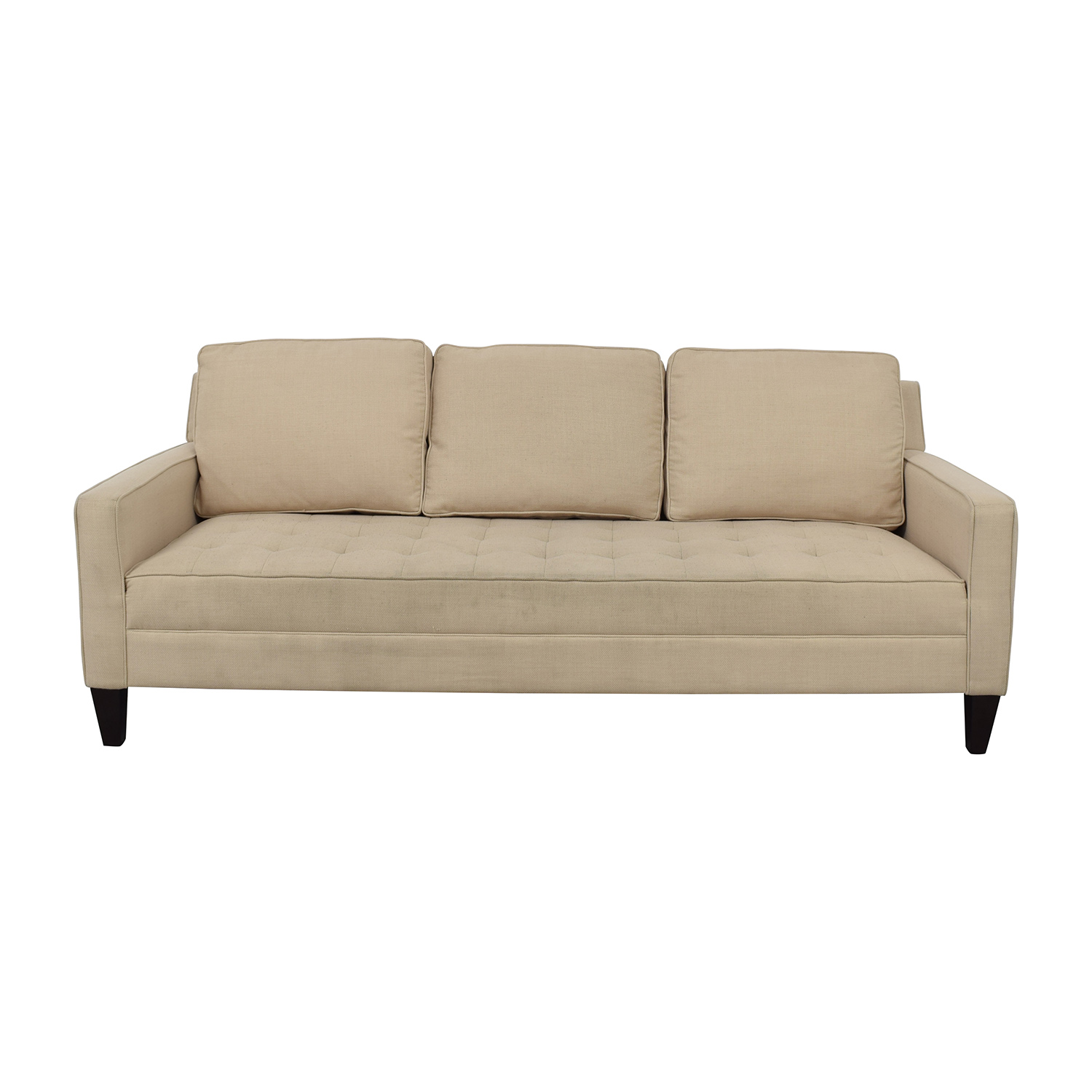 buy Off White Tufted Single Cushion Sofa Classic Sofas