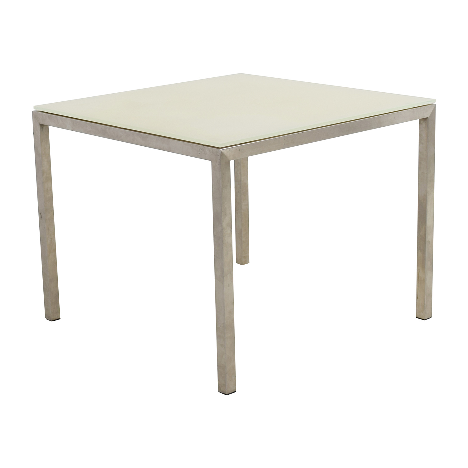 buy Room & Board Portia White Glass and Stainless Steel Dining Table Room and Board