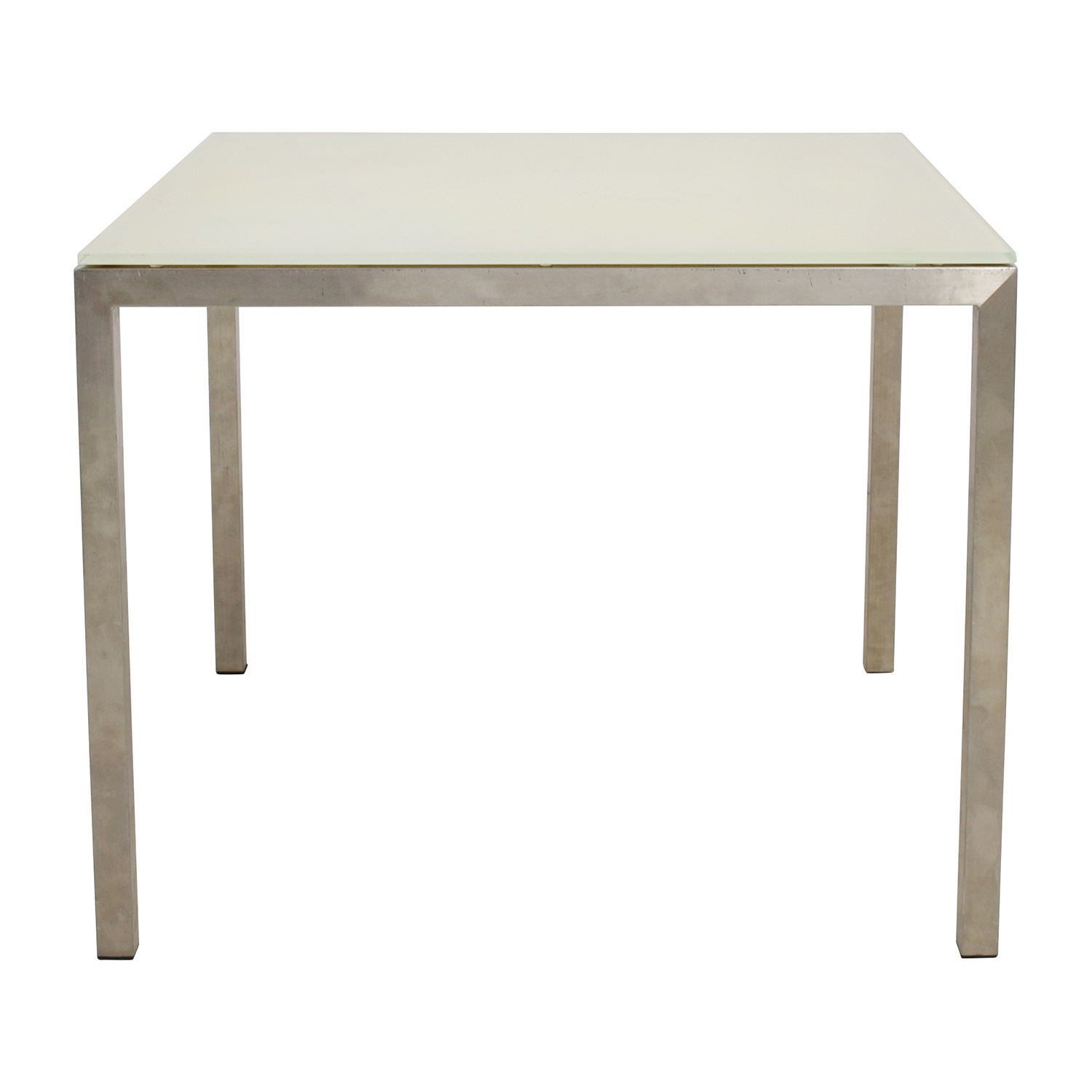 Buy Room U0026 Board Portia White Glass And Stainless Steel Dining Table Room  And Board Dinner ...