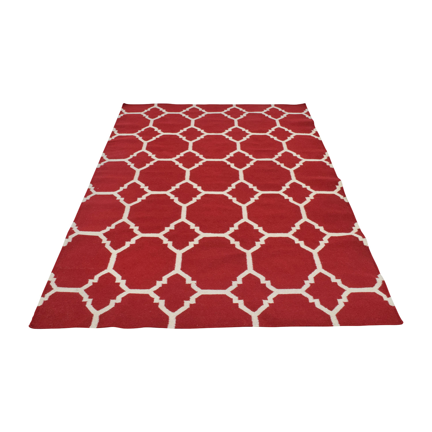 Red and White Graphic Rug coupon