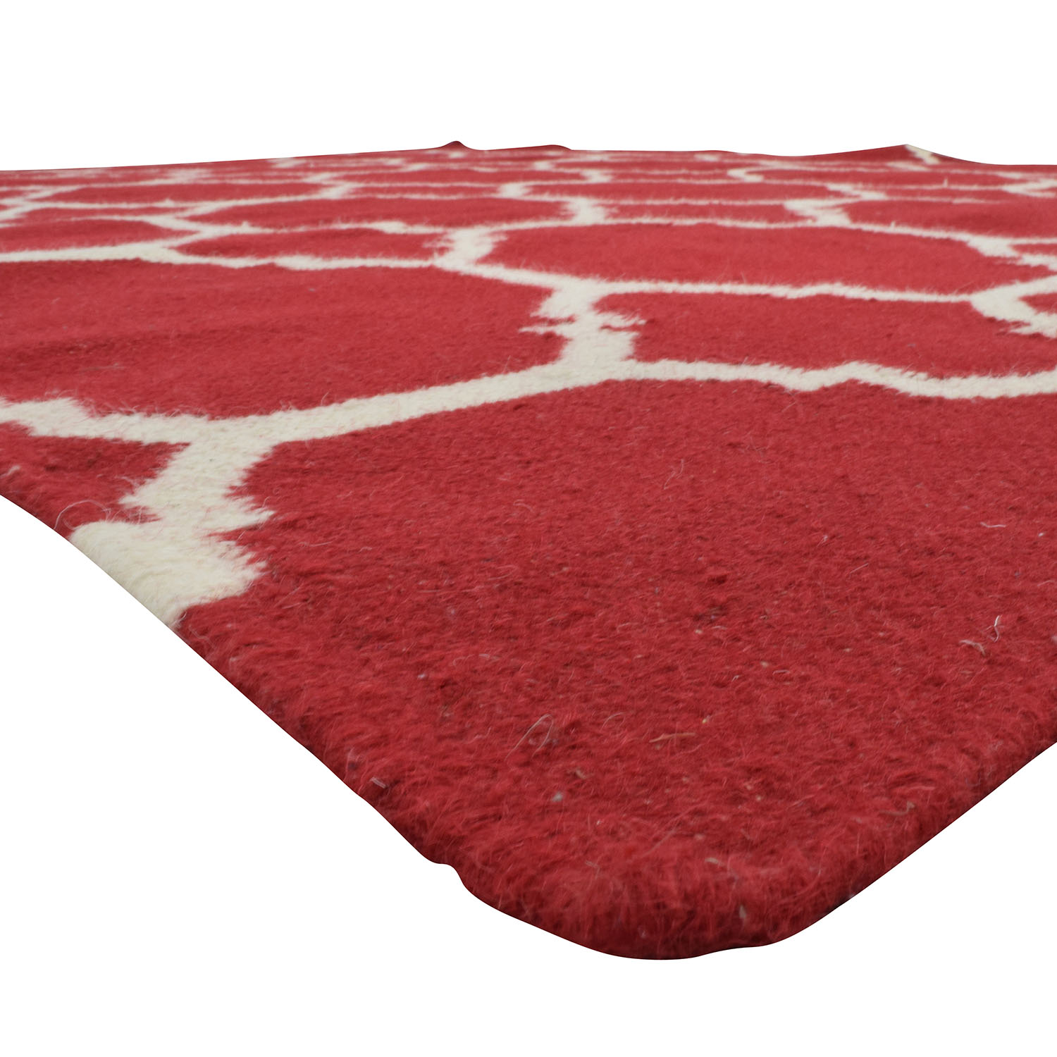 Red and White Graphic Rug discount