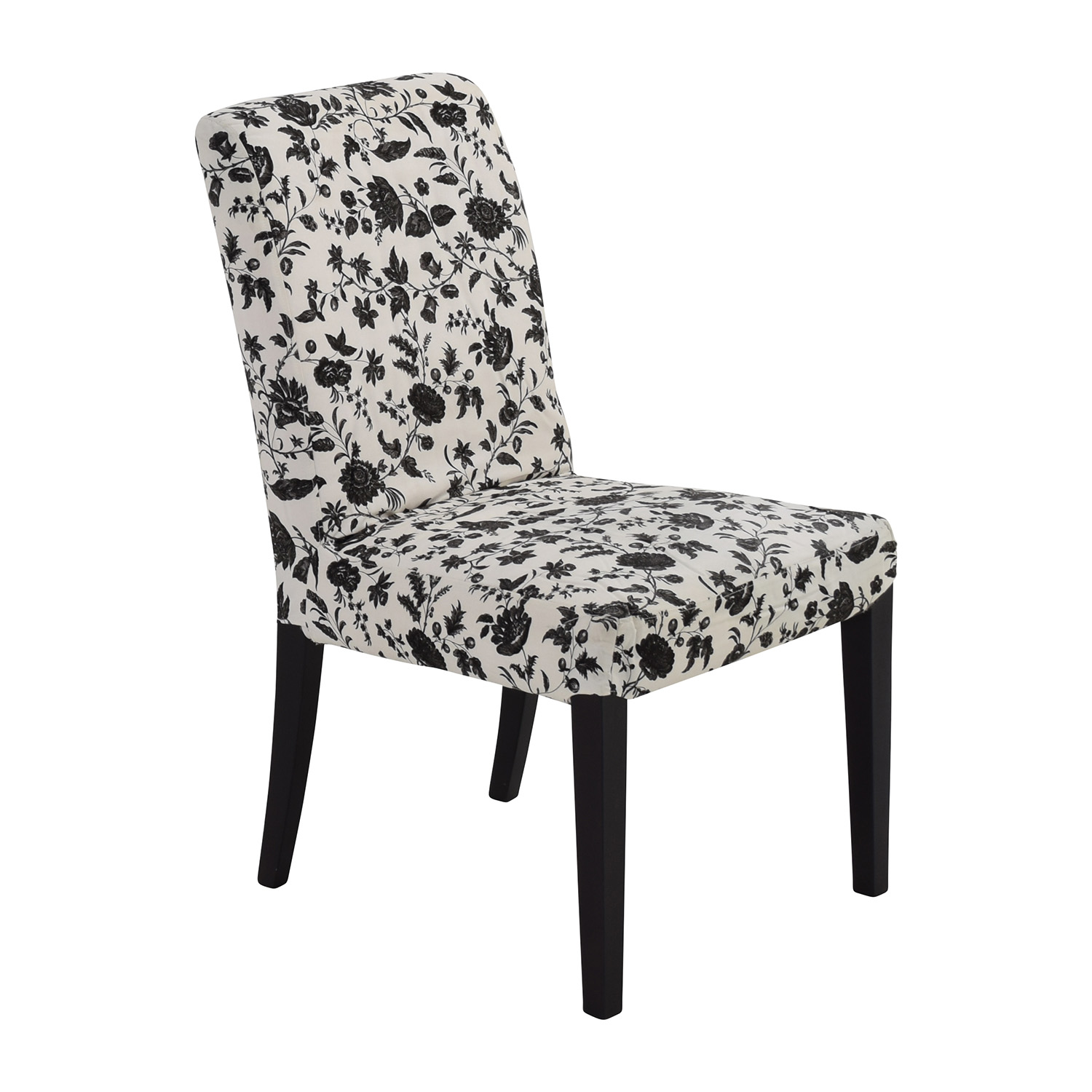 77% OFF Black & White Floral Dining Chair Chairs