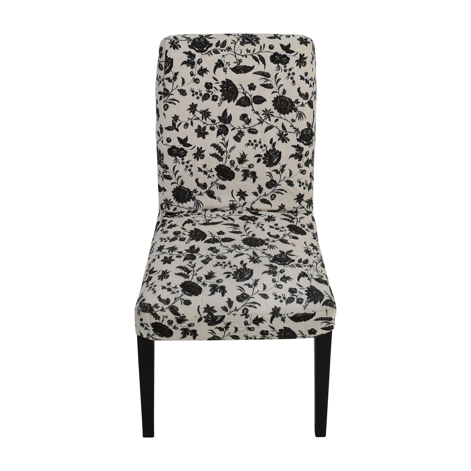 shop Black & White Floral Dining Chair Dining Chairs