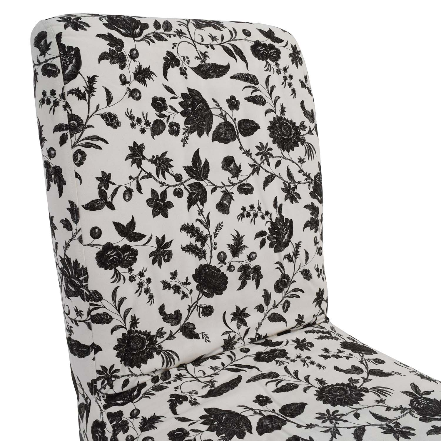 77 Off Black Amp White Floral Dining Chair Chairs