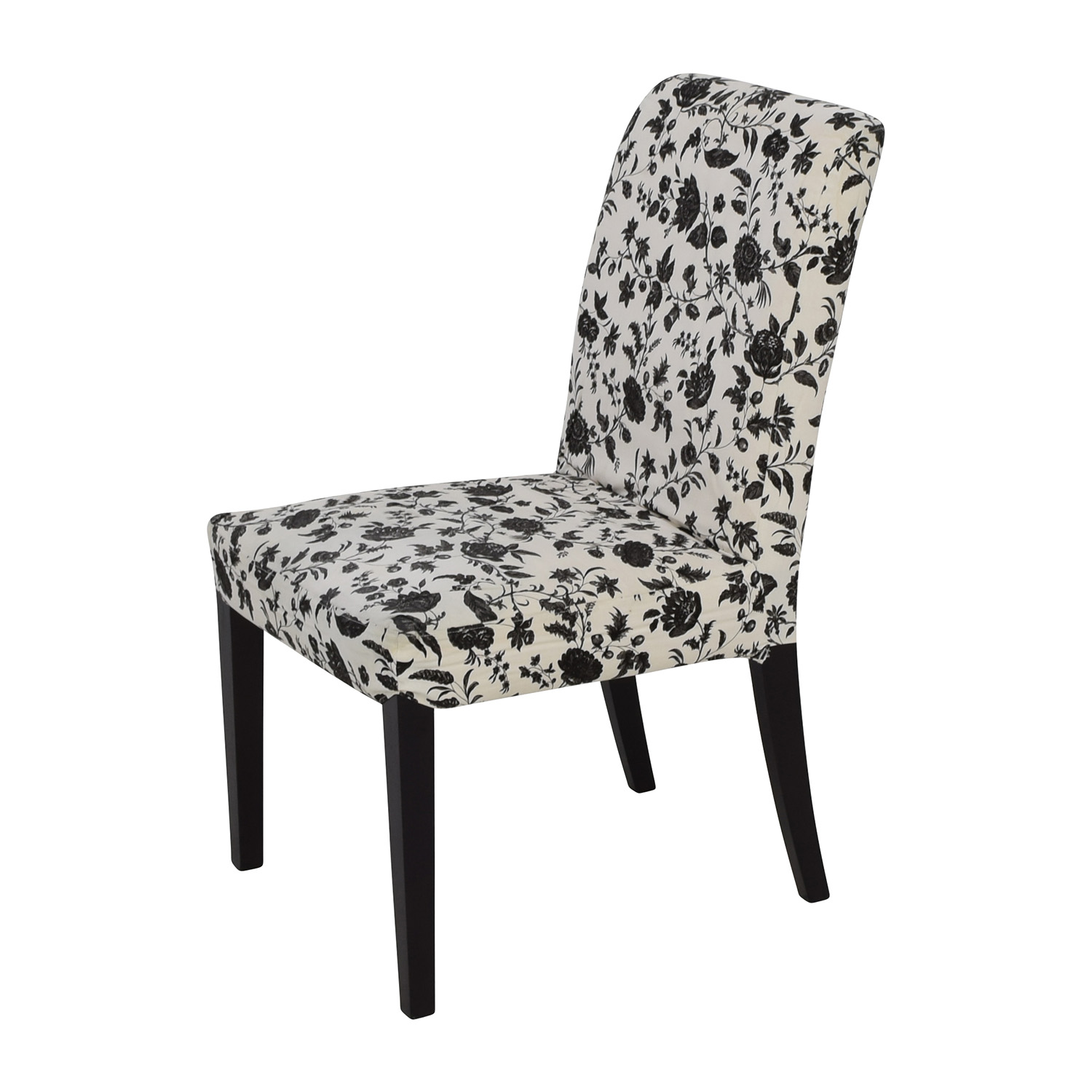 Black And White Dining Chair: Black & White Floral Dining Chair / Chairs