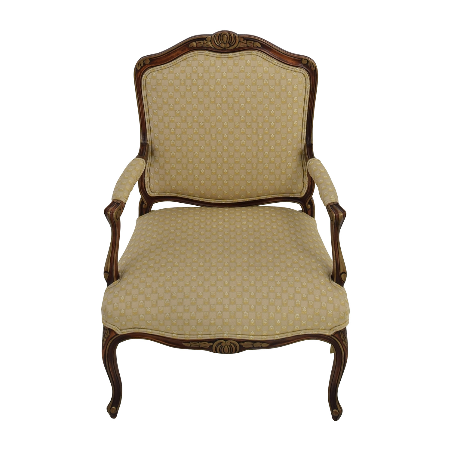 Classic accent chairs - Antique Upholstered Beige Classic Armchair Sale