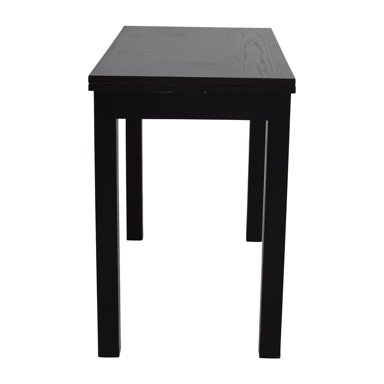 Etonnant 68% OFF   IKEA IKEA Extendable Black Table / Tables