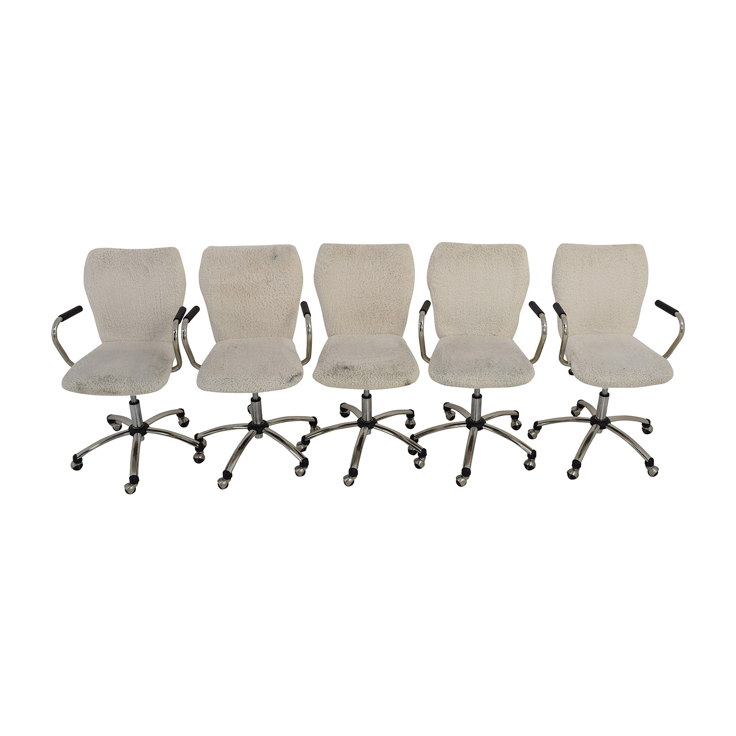 PBteen PBteen Ivory Sherpa Faux-Fur Airgo Chairs Chairs
