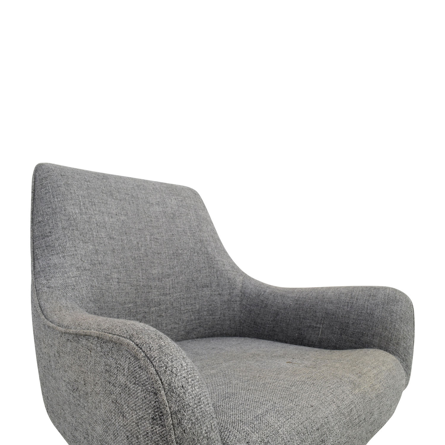 Wondrous 67 Off Cb2 Cb2 Grey Rounded Accent Chair Chairs Forskolin Free Trial Chair Design Images Forskolin Free Trialorg
