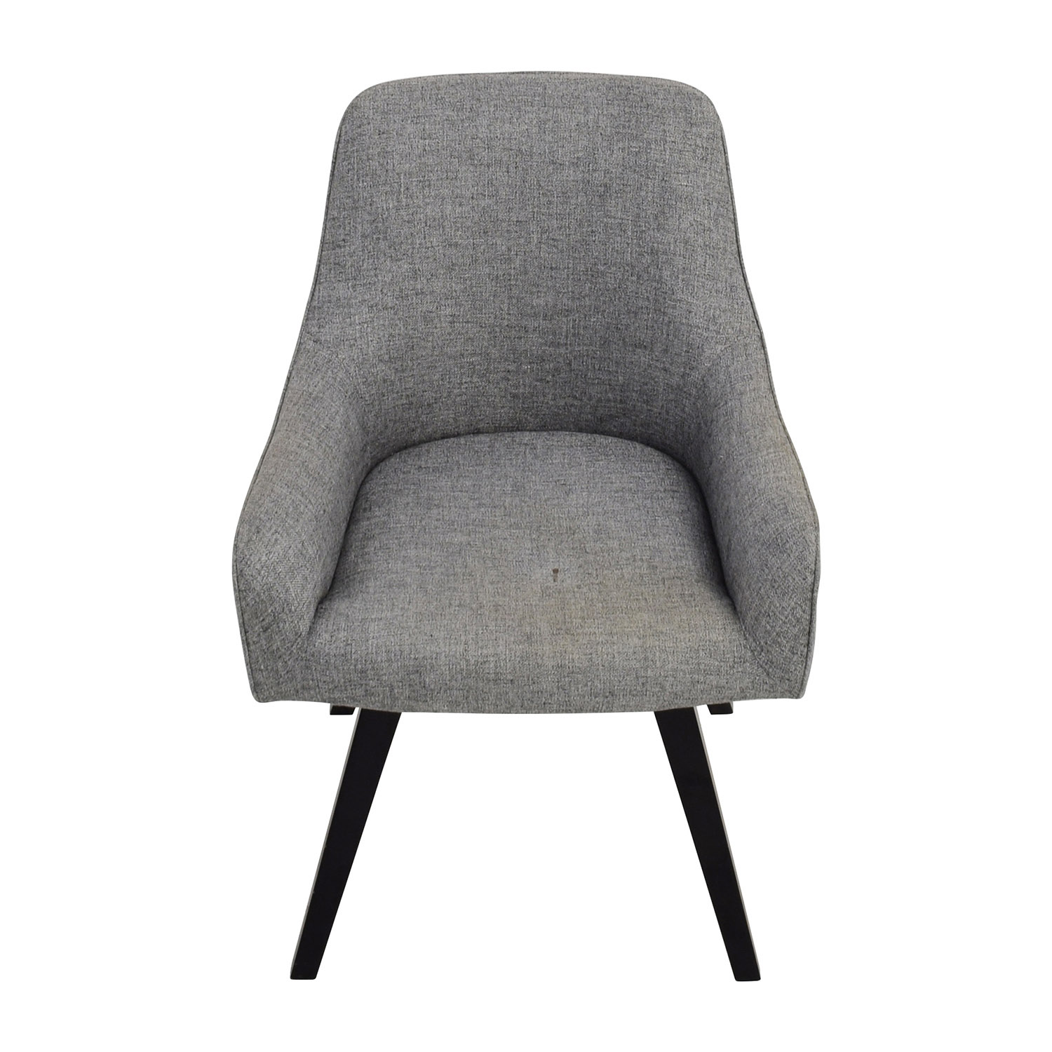 CB2 CB2 Grey Rounded Accent Chair for sale