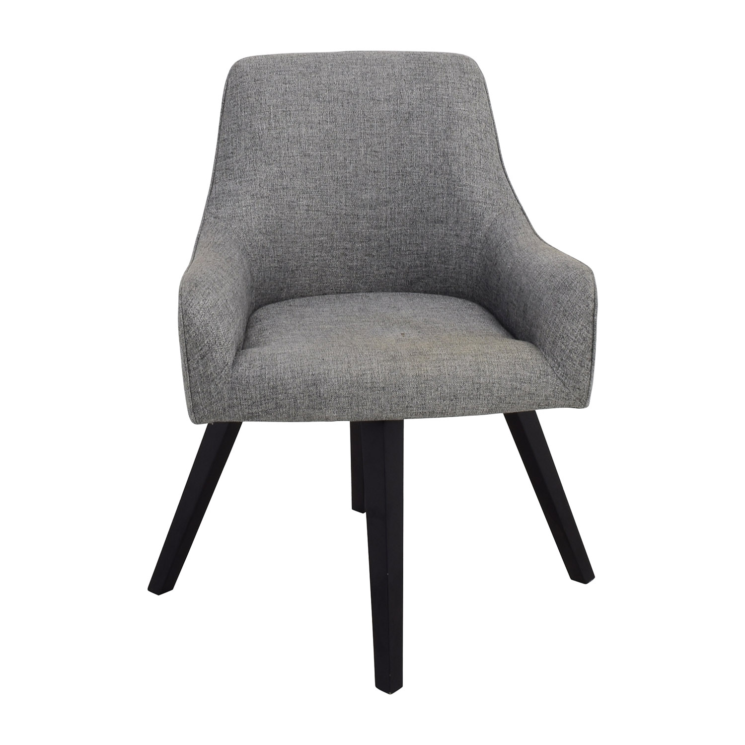 buy CB2 Grey Rounded Accent Chair CB2 Accent Chairs