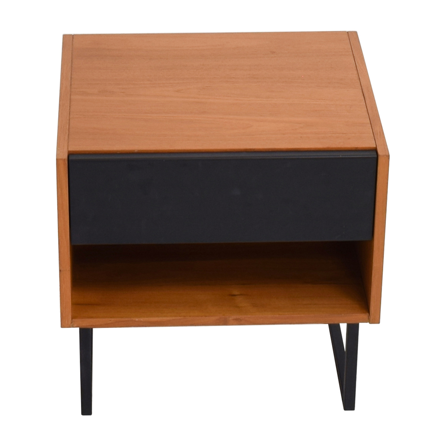 Crate & Barrel Crate & Barrel Brown & Black Night Table Brown and Black