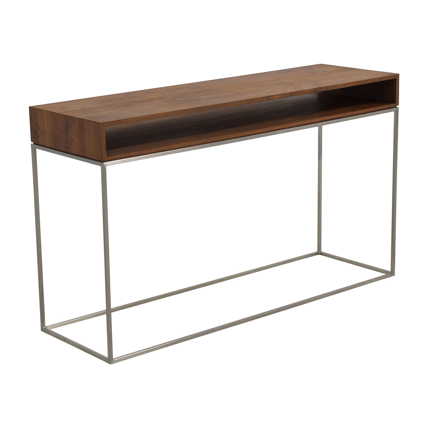 ... CB2 Wood And Metal Frame Console Table CB2 ...