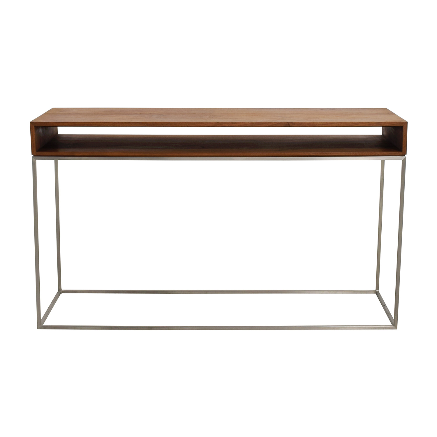 70% OFF - CB2 CB2 Wood and Metal Frame Console Table / Tables